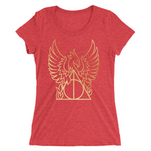 Load image into Gallery viewer, Golden Phoenix Hallows Women's Tri-Blend T-Shirt