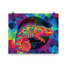 Load image into Gallery viewer, Geo Chameleon Poster