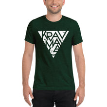 Load image into Gallery viewer, Krav Maga Triangle Unisex Triblend T-Shirt