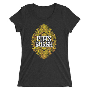 Pittsburgh Swirls Women's Cut Tri-Blend T-Shirt