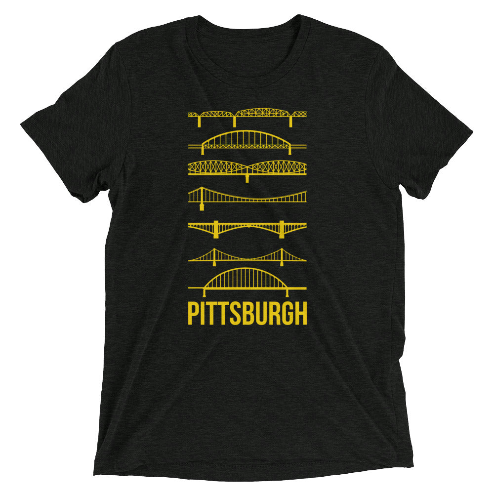 Pittsburgh Bridges Silhouettes Tri-Blend T-Shirt
