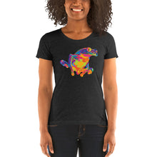 Load image into Gallery viewer, Rainbow Red Eyed Tree Frog Women's Tri-Blend T-Shirt
