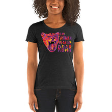 Load image into Gallery viewer, Hear Me Roar Women's Tri-Blend T-Shirt