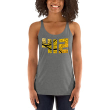 Load image into Gallery viewer, Pittsburgh 412 Map in Black and Yellow Tri-Blend Tank Top
