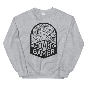 Board Gamer Black Unisex Sweatshirt