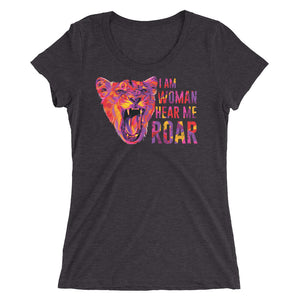 Hear Me Roar Women's Tri-Blend T-Shirt
