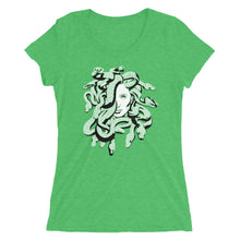 Load image into Gallery viewer, Medusa Greek Mythology Scales Women's Tri-Blend T-Shirt