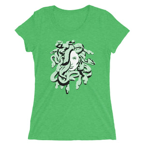Medusa Greek Mythology Scales Women's Tri-Blend T-Shirt