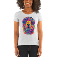 Load image into Gallery viewer, The Rainbow Alpaca Women's Cut Tri-Blend T-Shirt