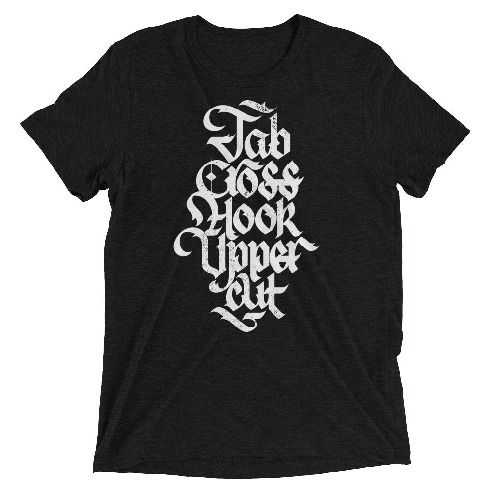Jab Cross Hook Uppercut Tri-Blend T-Shirt
