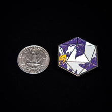 Load image into Gallery viewer, Dragon's D20 Enamel Pin
