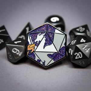 Dragon's D20 Enamel Pin