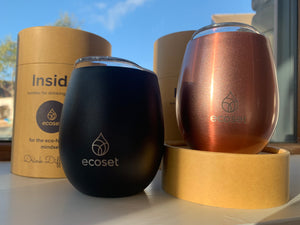 Ecoset 8oz black mini tumbler