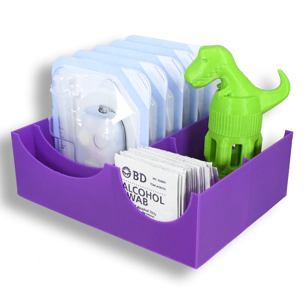Omnipod Drawer Organizer - 6 Pod caddy with Extra Storage