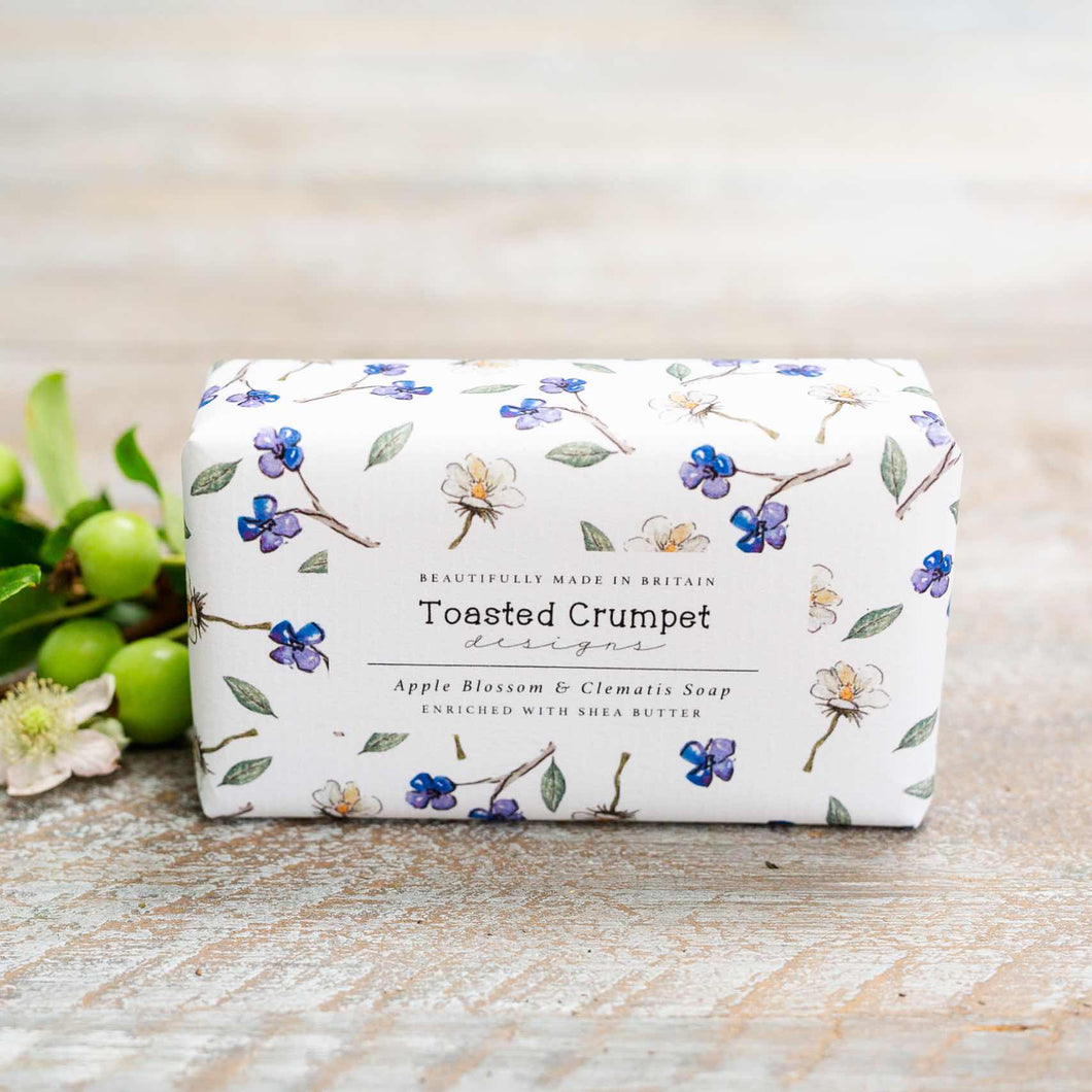 Apple Blossom & Clematis Vegan Friendly Soap Bar