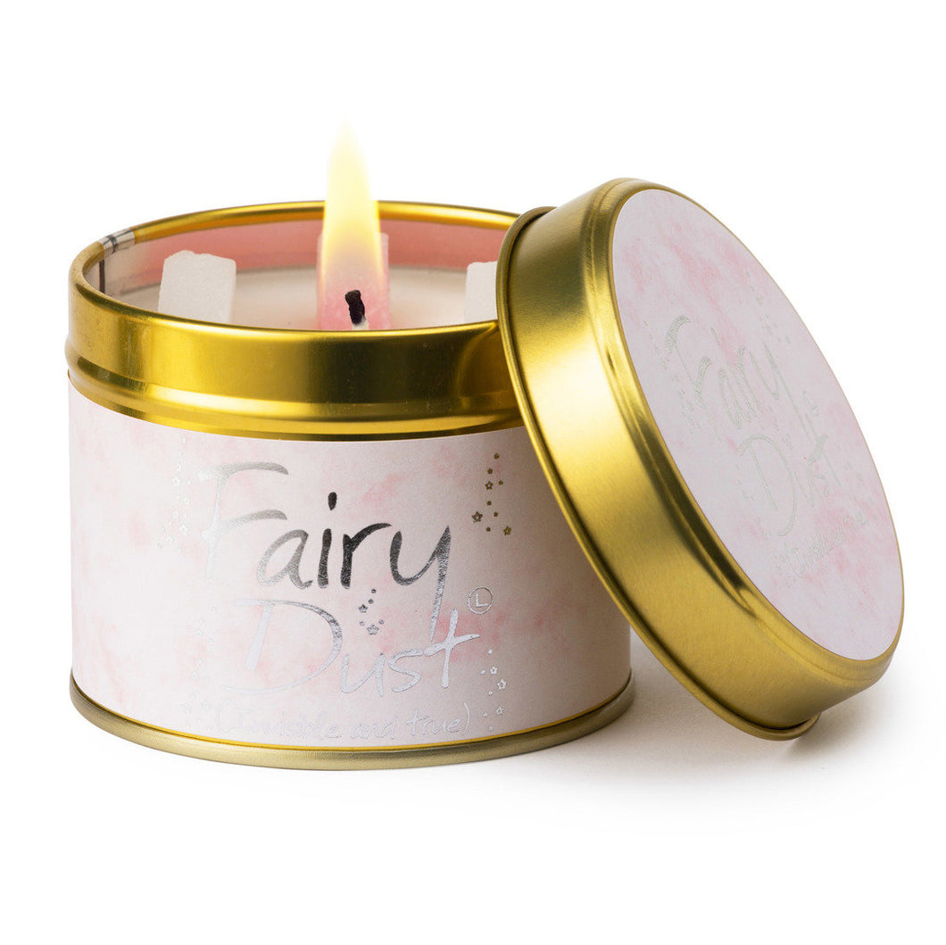 Fairy Dust Scented Poured Tin Candle