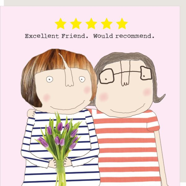 Five Star Friend Greetings Card