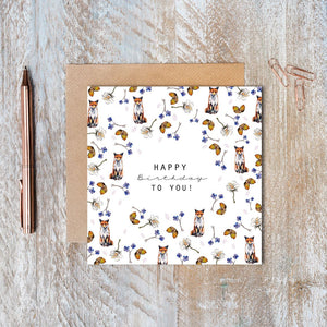 Happy Birthday to You Greeting Card (Fox Pure) Cello-Free