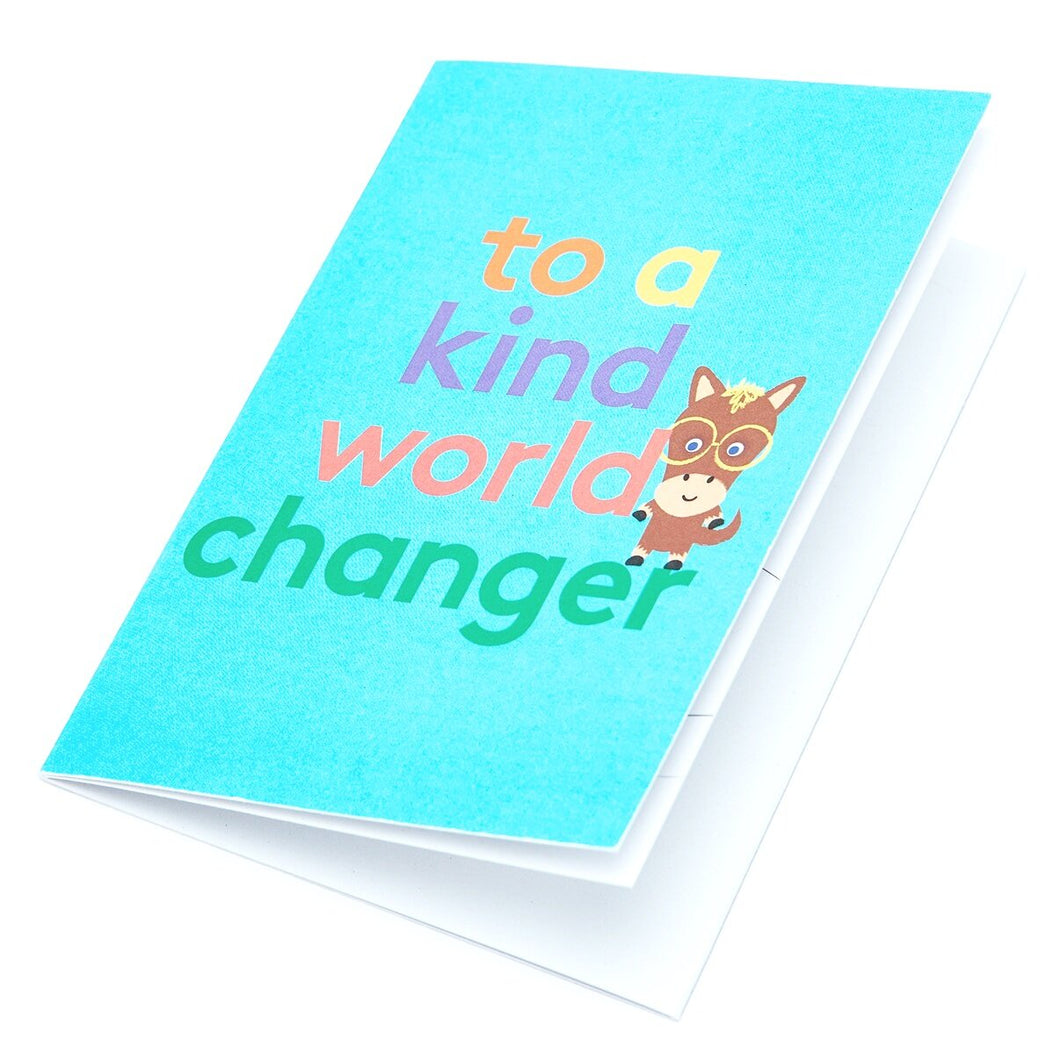 World Changer Fold Out Colour-In Greeting Card