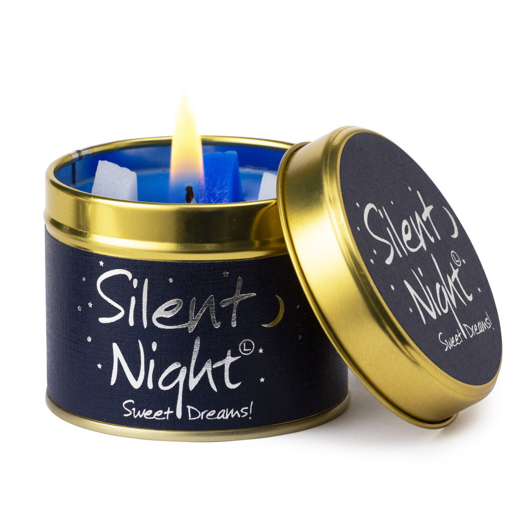 Silent Night Poured Scented Tin Candle