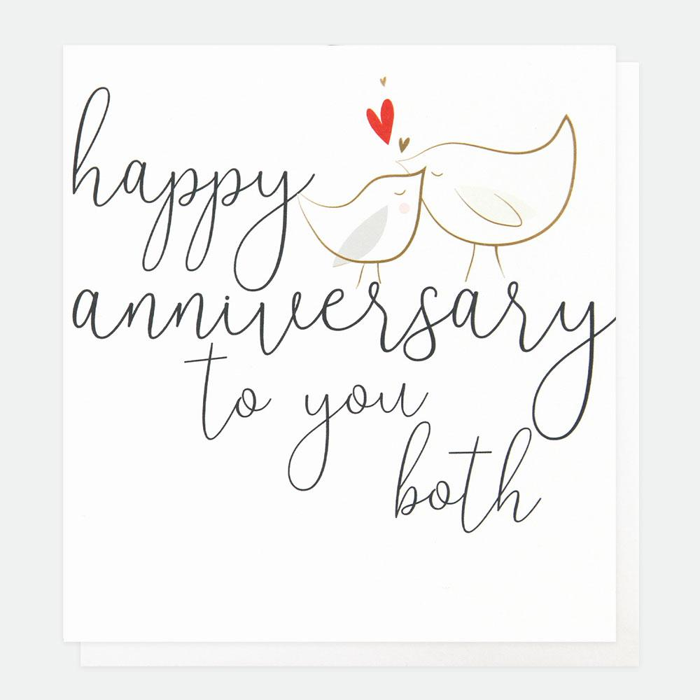 Happy Anniversary To You Both Card
