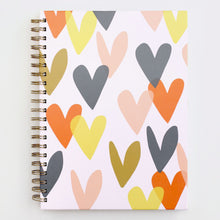 Load image into Gallery viewer, Falling Hearts A4 Spiral Notebook