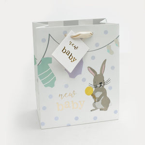 Bunny New Baby Medium Gift Bag