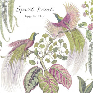 Sanderson Bird of Paradise Happy Birthday Special Friend Card