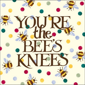 Emma Bridgewater Congratulations You're The Bees Knees Card