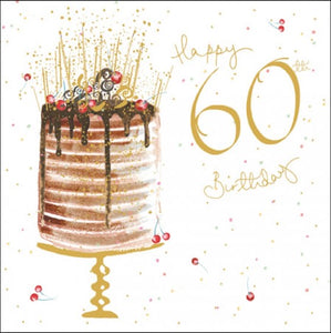 'Pink' Cake 60th Birthday Card
