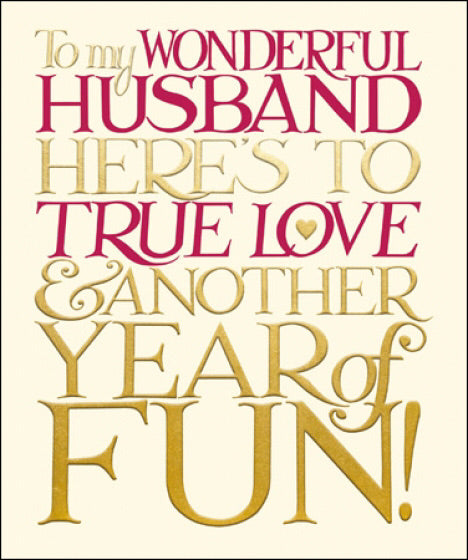 Emma Bridgewater On Our Anniversary - Husband Card