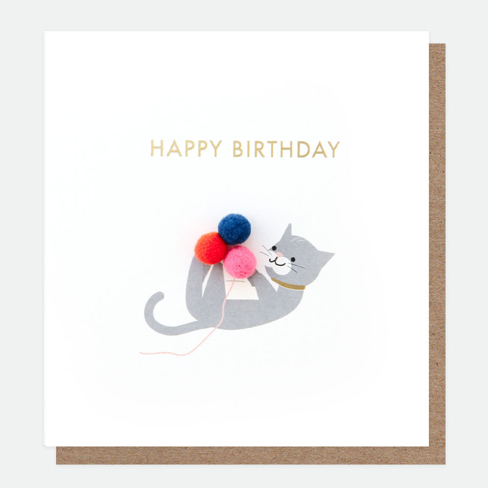 Mini Poms Happy Birthday Cat Card