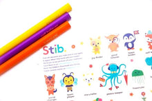 Load image into Gallery viewer, Stib Positive Worded 12 Jumbo Colouring Pencils Tube & Sticker Art Pack