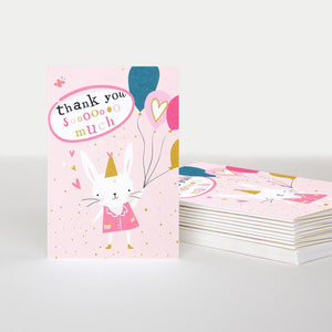 Thank you Sooo Much Rabbit Thank you Cards Pack of 10