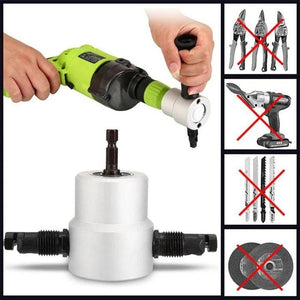Double Head Nibbler Cutter Drill Attachment