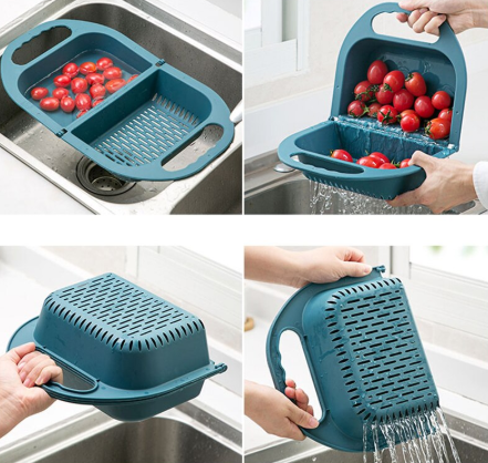 Creative Folding Multifunctional Drain Basket