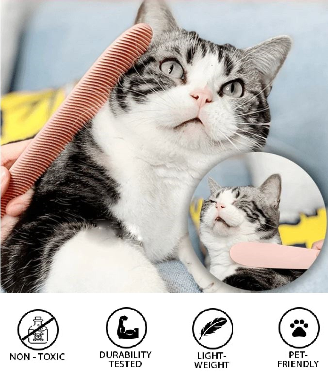 PawParadize™ Relaxing Cat Tongue Massage Brush