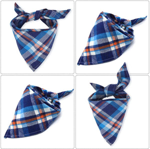 Dog Plaid Bandanas