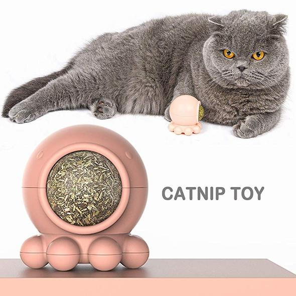 Cute Octopus 360° Rotation Cat Snack Toys