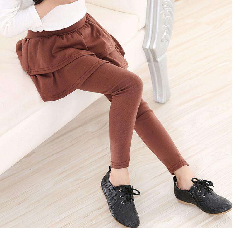 Kids Plush Skirt Leggings