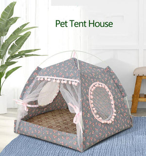 Foldable Pet Tent House