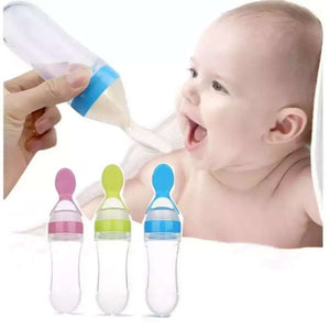 Baby Squeeze Bottle with Spoon