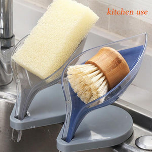 Creative Bathroom Decor Leaf Shape Hollow Soap Holder