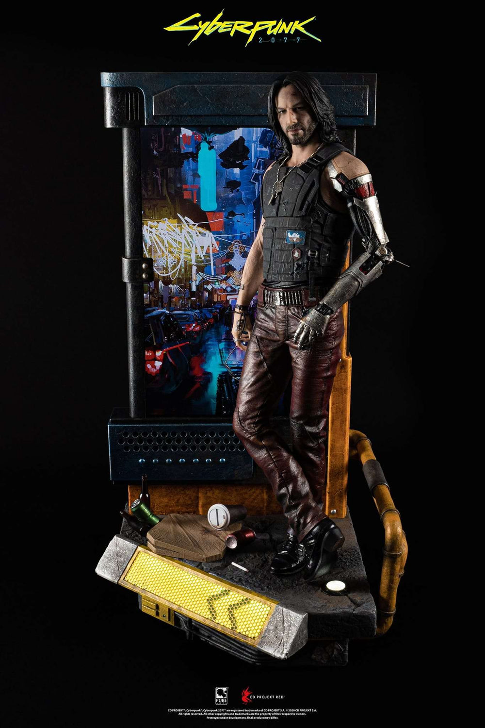 [PRE-ORDER]: Pure Arts Cyberpunk 2077 Johnny Silverhand 1:4 scale statue (Regular Version)