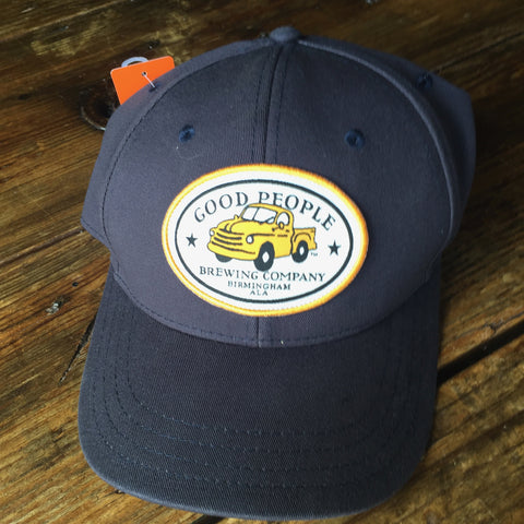 Navy Cotton Twill Logo Hat