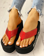 Toe Post Platform Muffin Sandals