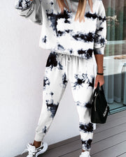 Tie Dye Sweatshirt Pants Set
