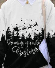 Christmas Patterns Long Sleeve Loose Sweatshirts