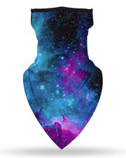 Starry Sky Print Breathable Ear Loop Face Cover Windproof Outdoors