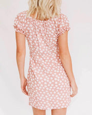 Pink Floral Mini Dres